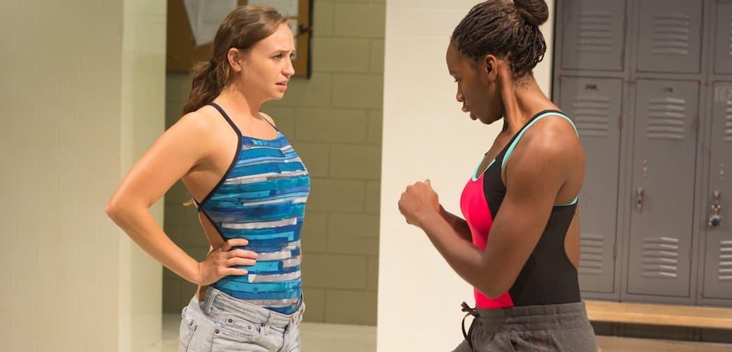 "Stephanie Recio as Amy and Eva Hughes as Ester in ""Dry Land"" at Company One. (Courtesy Paul Fox/Company One)"