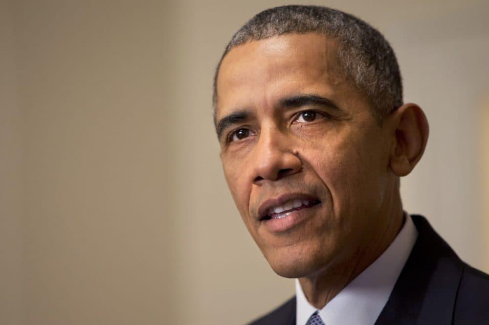 A Dec. 12, 2015 photo of US President Barack Obama  (AP Photo/Jacquelyn Martin, File)