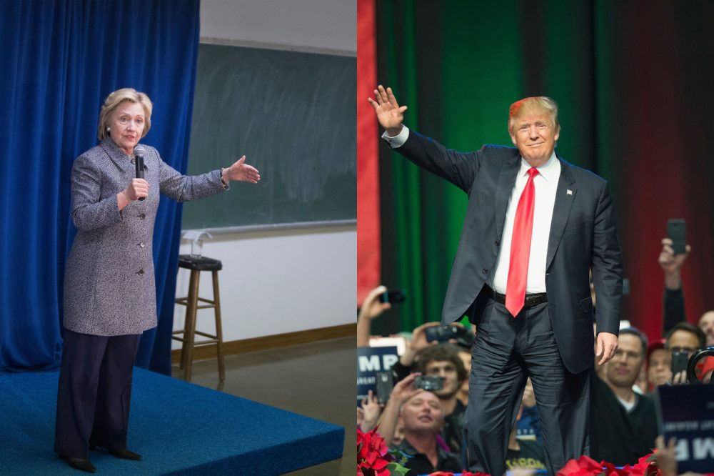 Hillary Clinton and Donald Trump clashed this week. (Getty Images)