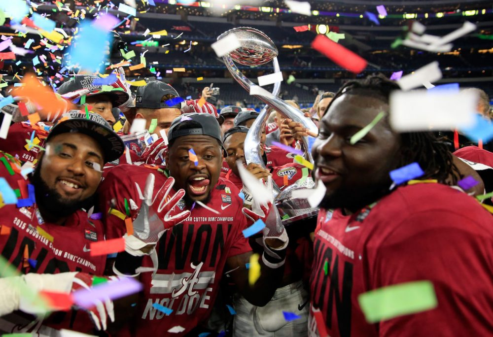 Alabama was pleased with the outcome of their college football semi-final win. But fans were less than thrilled by the game itself. (Jamie Squire/Getty Images)