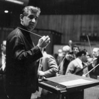 Composer Leonard Bernstein conducting at London's Royal Festival Hall in 1963. Current Oakland East Bay Symphony conductor Michael Morgan idolized and later worked with Bernstein. (Evening Standard/Getty Images)
