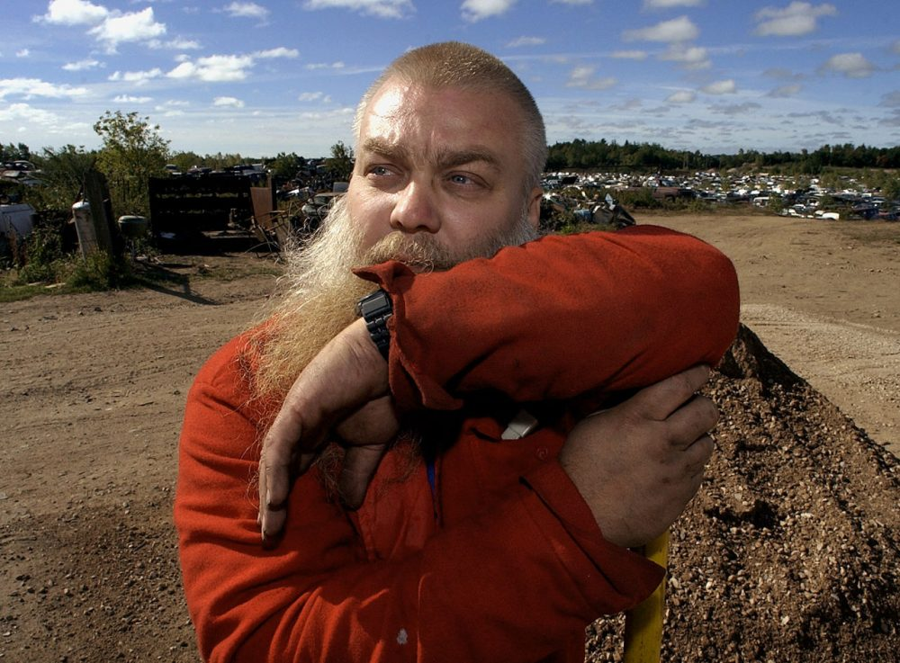 Steven Avery is pictured at his family's salvage yard in Two Rivers, Wisconsin on Sept. 25, 2003, after being released from prison. He served 18 years before DNA tests proved he was innocent of a sexual assault. (Morry Gash/AP)