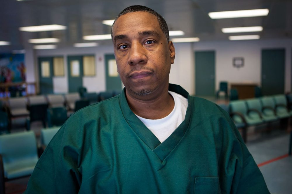 "Darrell ""Diamond"" Jones was convicted of the 1985 murder of alleged Cuban cocaine dealer Guillermo Rodriguez in Brockton. Jones, now 48, maintains his innocence after three decades in prison. (Jesse Costa/WBUR)"