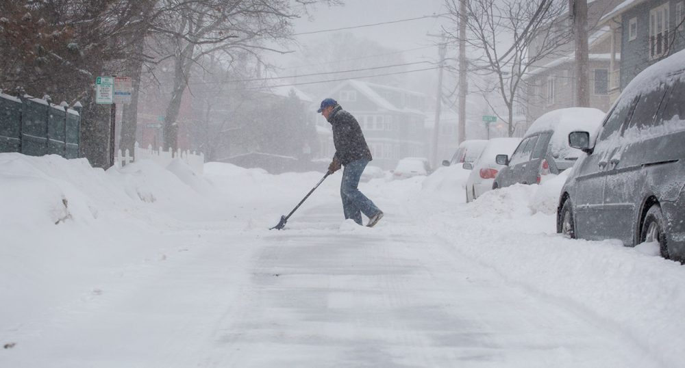 Boston City Councilor Tito Jackson said he was compelled to propose the ordinance after learning an 80-year-old woman had sold her home because she could not shovel her sidewalk. (Robin Lubbock/WBUR)