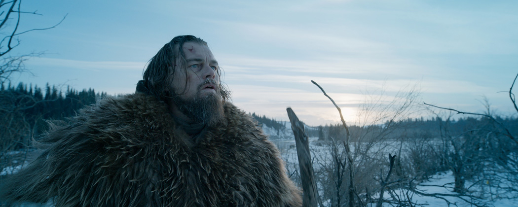 "Leonardo DiCaprio as Hugh Glass, in a scene from the film, ""The Revenant."" DiCaprio was nominated for an Oscar for best actor for his role in the film. (Courtesy Twentieth Century Fox via AP)"
