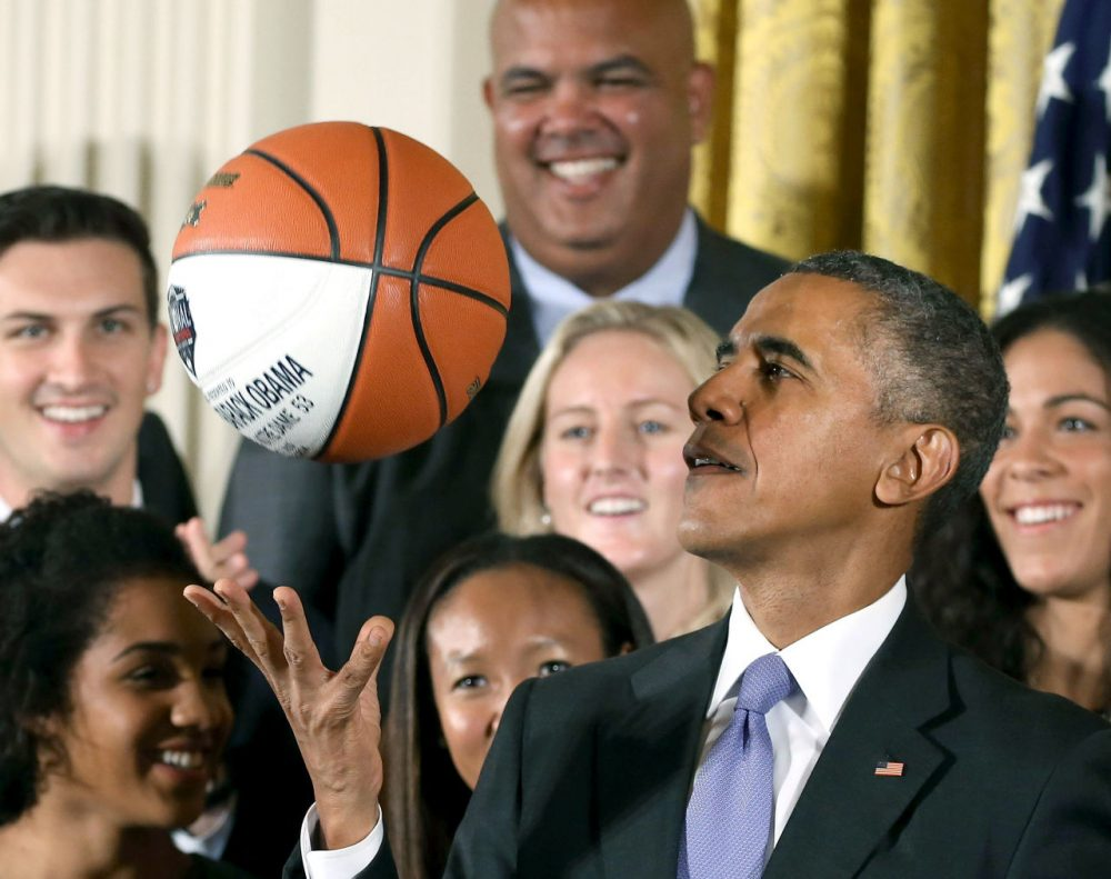 While past Presidents have played a variety of sports while in office, few others have shown the same level of interest that President Obama has with basketball. (Mark Wilson/Getty Images)