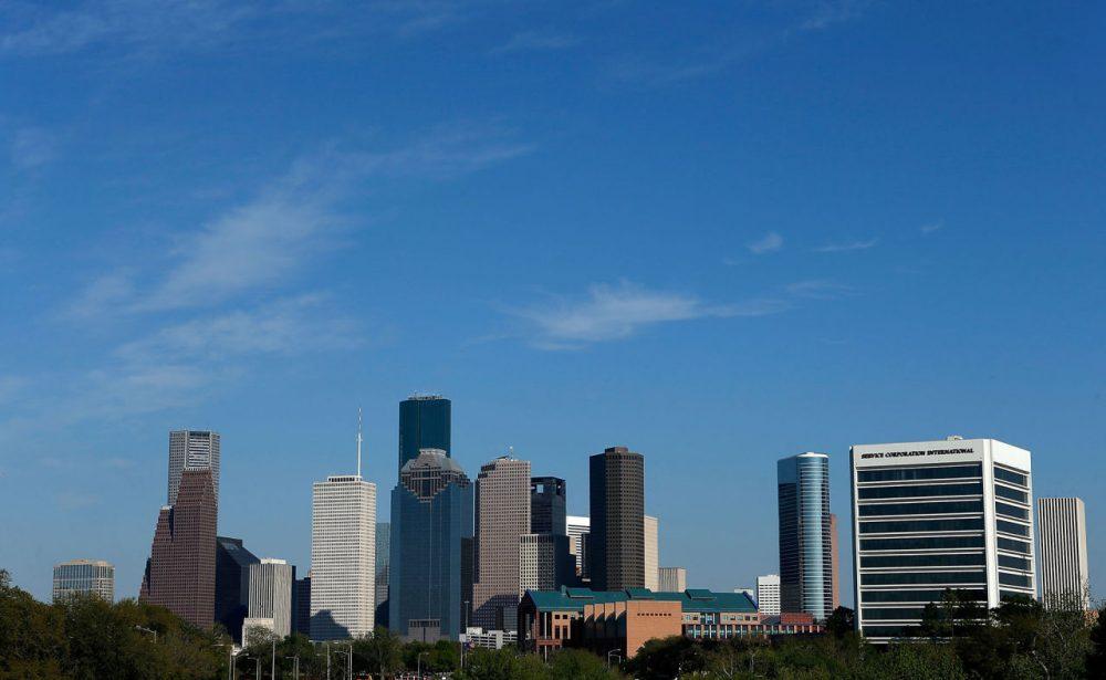 A view of the Houston skyline during the afternoon on March 26, 2013 in Houston, Texas.  (Scott Halleran/Getty Images)