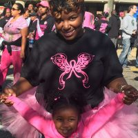Lifelong Flint resident Chia Morgan is pictured with her 3-year-old daughter Malia. (Courtesy)