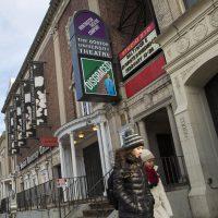 The Huntington Theatre Company in Boston is seen on Wednesday. (Jesse Costa/WBUR)