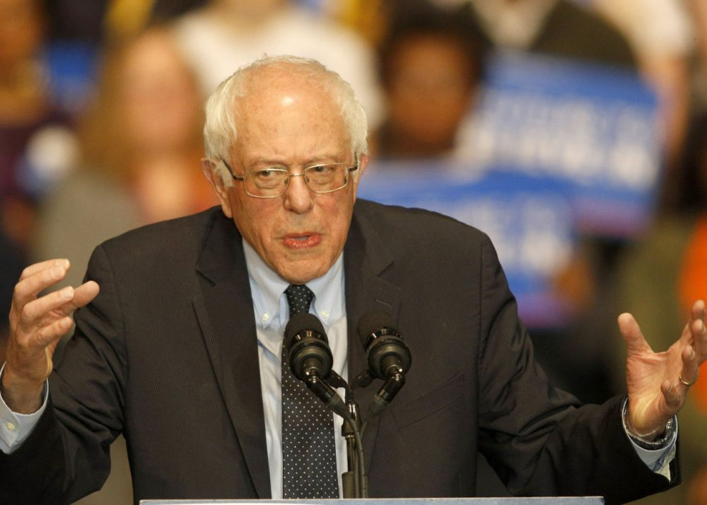 Democratic presidential candidate Sen. Bernie Sanders (I-VT) speaks at Boutwell Auditorium, January 18, 2016 in Birmingham, Alabama. Sanders spoke to a capacity crowd of around 5,000 supporters. (Hal Yeager/Getty Images)