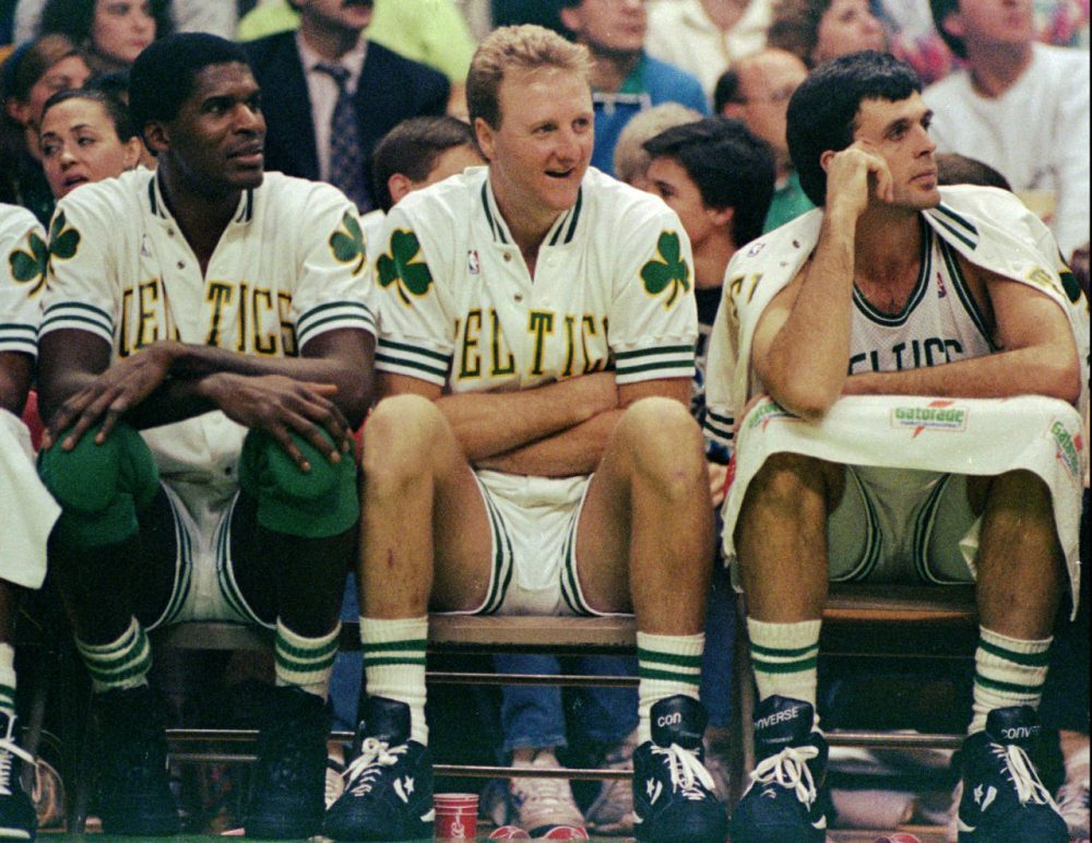 Only A Game's Gary Waleik never expected to be alone in an elevator with Larry Bird. But that's exactly what happened in 1994. (AP Photo/Stephan Savoia)