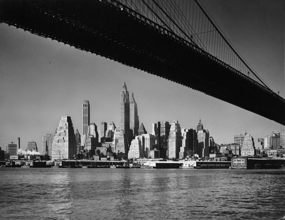 The Manhattan skyline in the New York city of Bill Littlefield's youth.(Phil Burchman/Fox Photos/Getty Images)