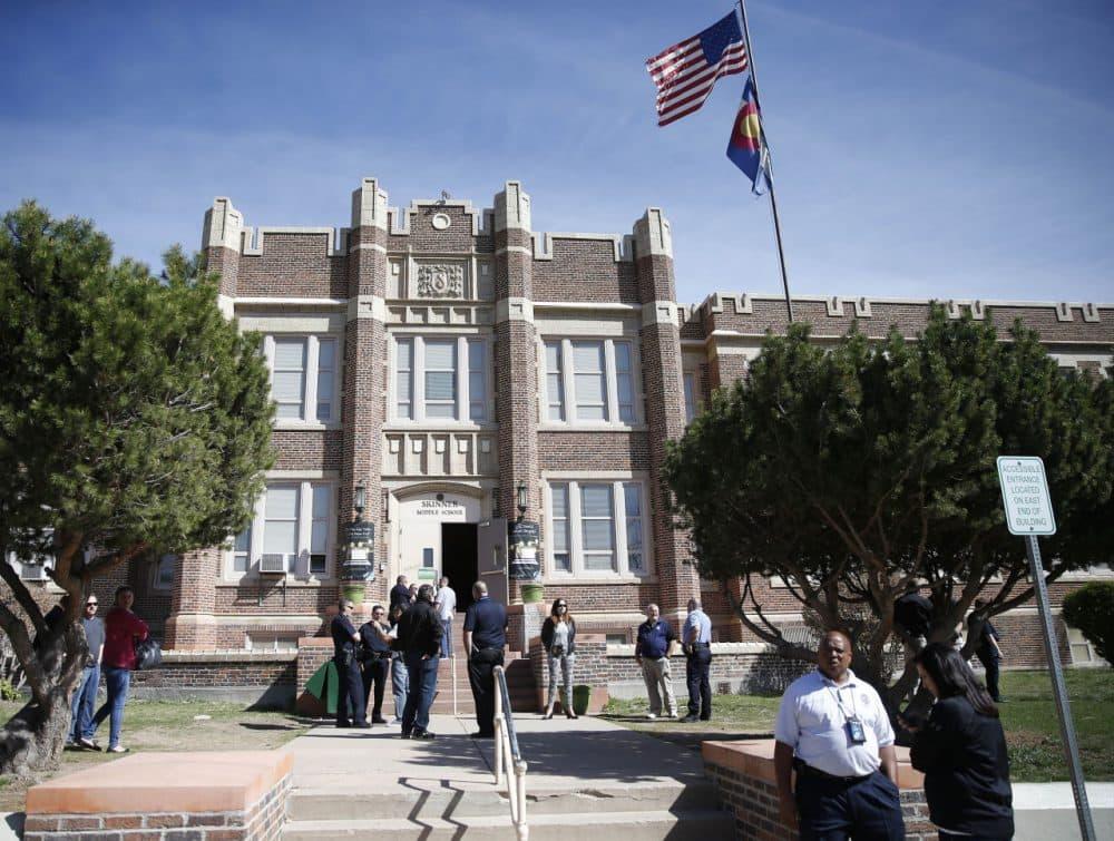 Skinner Middle School in Denver, Colorado. (Brennan Linsley/AP)