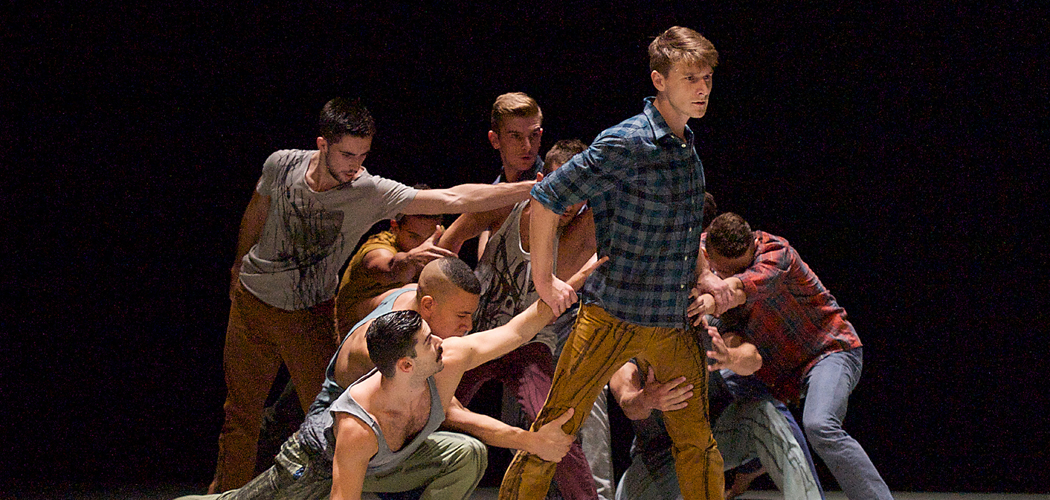 """BalletBoyz performing """"The Murmuring"""" in 2014 at the Linbury Theatre at the Royal Opera House in London. (Courtesy Elliott Franks/BalletBoyz)"""
