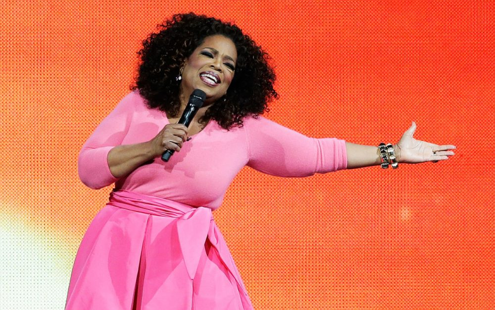 Oprah Winfrey on stage during her An Evening With Oprah tour on December 12, 2015 in Sydney, Australia.  (Mark Metcalfe/Getty Images)
