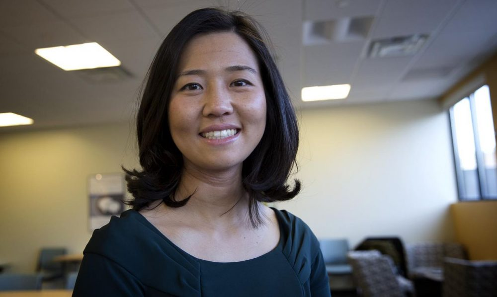 Boston City Councilor Michelle Wu, at WBUR. (Robin Lubbock)
