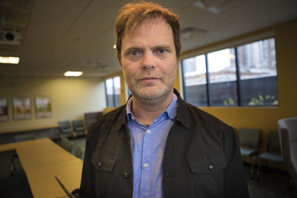 Rainn Wilson is pictured at the WBUR studios on November 11, 2015. (JesseCosta/WBUR)