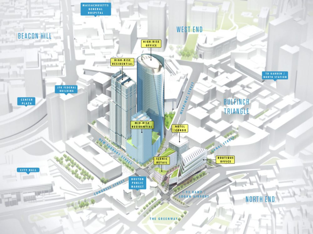 National and HYM's six-building plan. (Courtesy Tom Palmer)