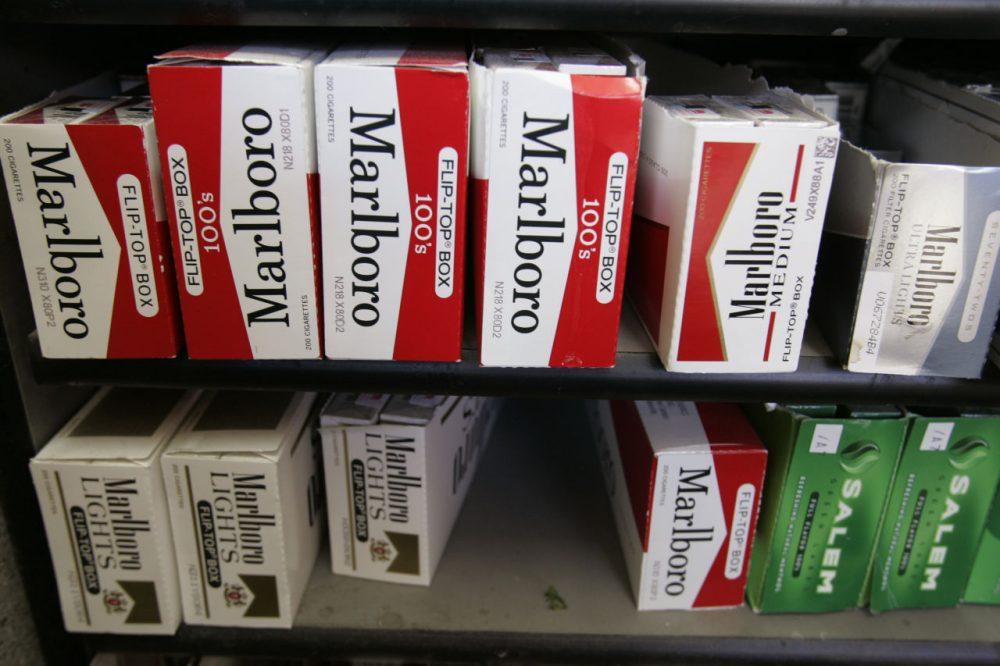 In this 2014 file photo, Philip Morris' Marlboro cigarettes are on display at a market in Palo Alto, Calif. (Paul Sakuma/AP)