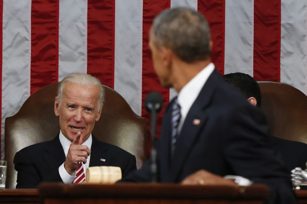 During his final State of the Union address, President Obama announced a new national effort to cure cancer. He said Vice President Joe Biden, who lost his 46-year-old son to cancer last year, would lead the effort. (Evan Vucci/AP)