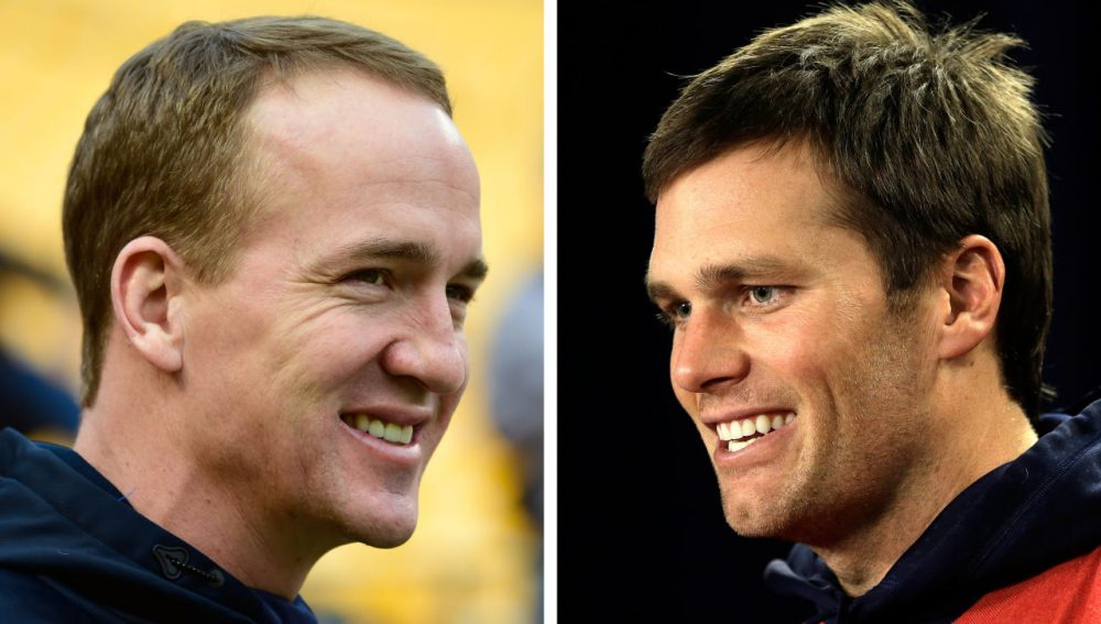 Sunday's AFC Championship Game could be the final postseason matchup between Tom Brady and Peyton Manning. (File/AP)