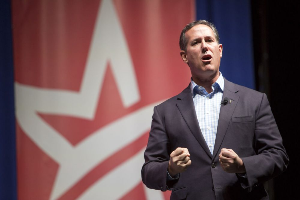 "In 2012, Republican presidential candidate Rick Santorum, seen here on Dec. 5, 2015, won three of six March 1 ""SEC states,"" but Mitt Romney became the nominee. (Scott Morgan/AP)"