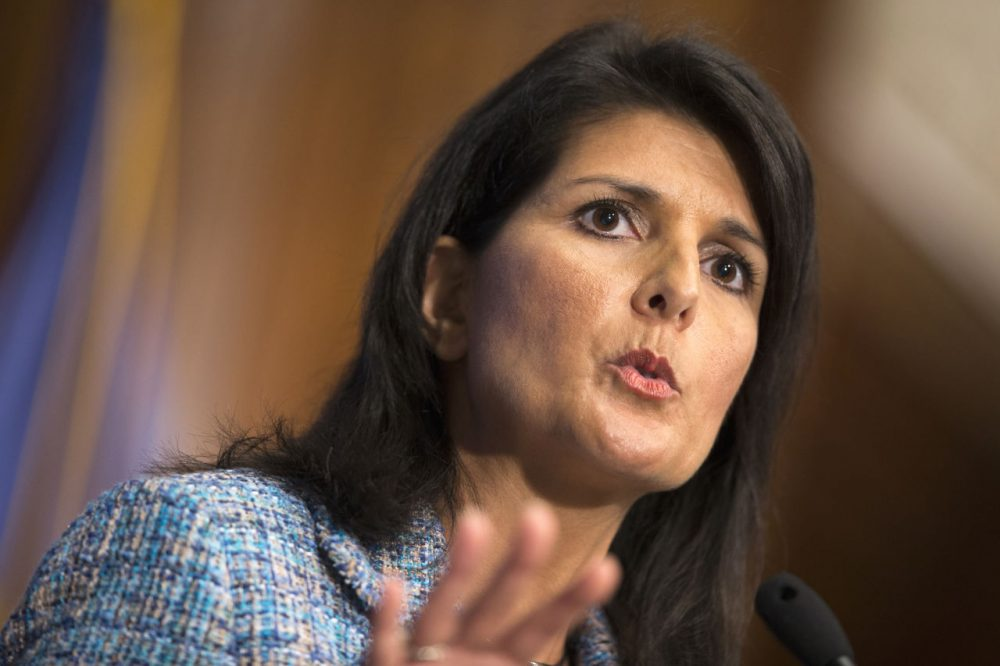 In this file photo. South Carolina Gov. Nikki Haley speaks at the National Press Club in Washington. (Evan Vucci/AP)