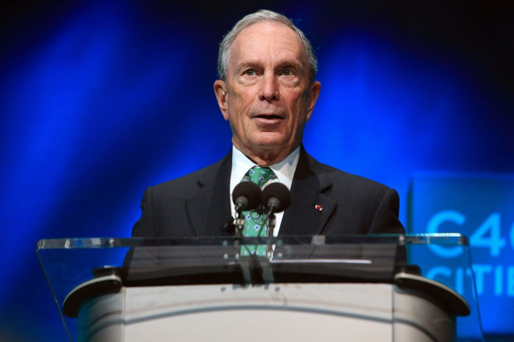 In this Dec. 3, 2015, file photo, former New York Mayor Michael Bloomberg speaks during the C40 cities awards ceremony in Paris. Bloomberg is taking some early steps toward launching a potential independent campaign for president. (Thibault Camus/AP)