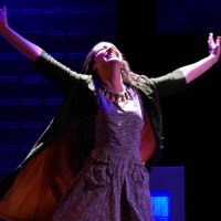 """Alison McCartan in the title role of """"Violet."""" (Courtesy Glenn Perry Photography/SpeakEasy Stage Company)"""