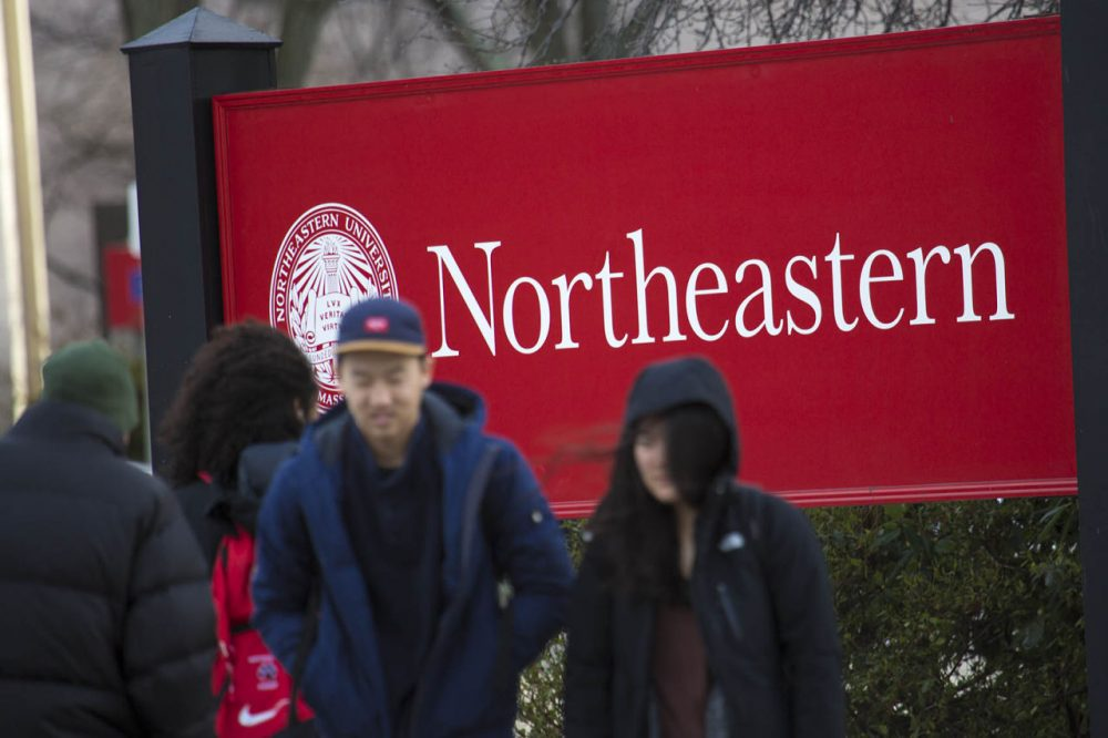 Boston's Northeastern University is one of 90 member schools in the Coalition for Access, Affordability, and Success, a group of selective colleges and universities working on a new application it hopes will attract students who might not otherwise apply. Eight other Massachusetts colleges are members. (Jesse Costa/WBUR)