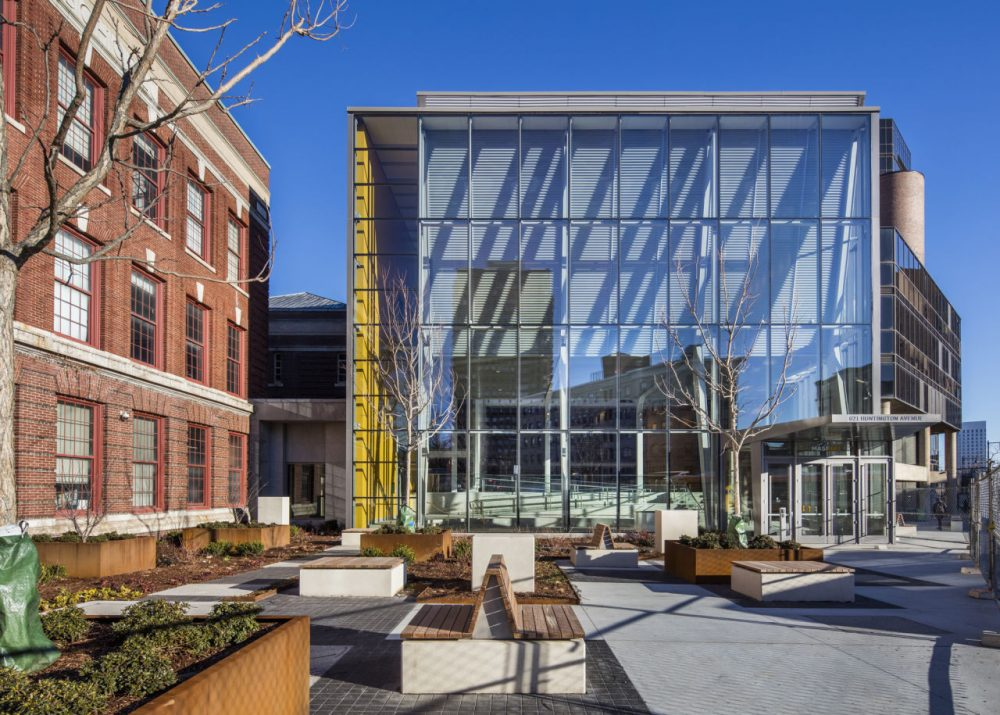 The exterior of Massachusetts College of Art and Design's new building. (Richard Barnes)