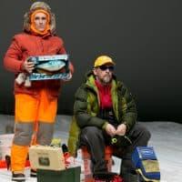 "Mark Rylance and Jim Lichtscheidl in ""Nice Fish."" (Courtesy Evgenia Eliseeva/American Repertory Theater)"