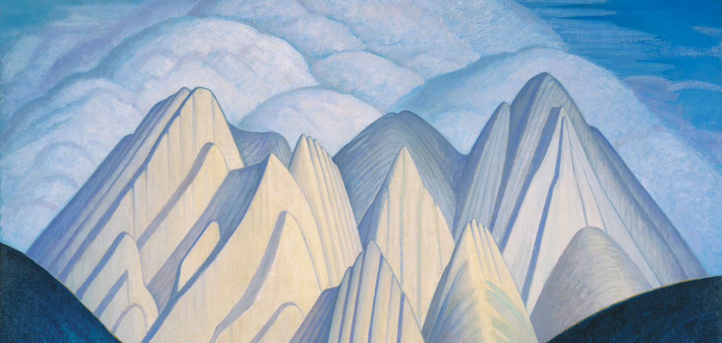 "From the Boston Museum of Fine Arts' upcoming exhibit ""The Idea of North: The Paintings of Lawren Harris,"" a detail of Harris' 1926 painting ""North Shore, Lake Superior."" (Courtesy Museum of Fine Arts, Boston)"