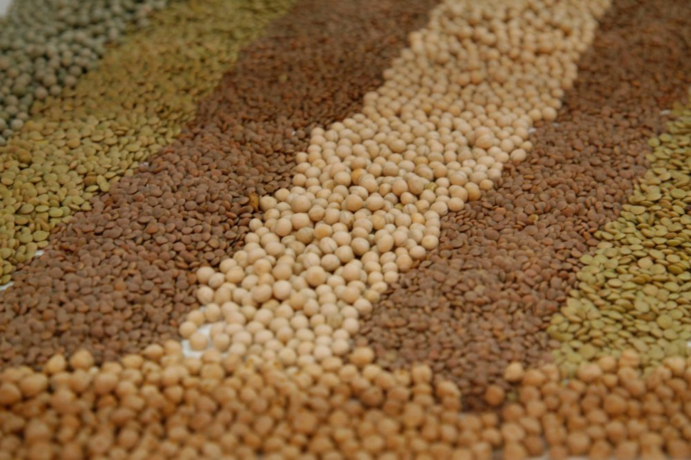 (AP Photo/Hermann J. Knippertz)   ---  Lentils and beans are pictured on a stand of the food fair Anuga in Cologne, Germany, on Wednesday, Oct. 14, 2009. (AP Photo/Hermann J. Knippertz)