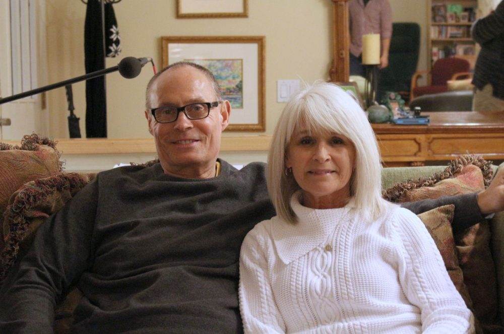 Dave Pear and his wife, Heidi. (Alex Ashley/Only A Game)