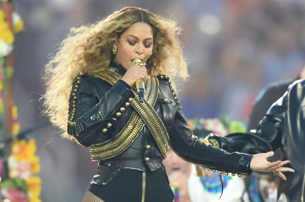 Beyonce performs during Super Bowl 50 between the Carolina Panthers and the Denver Broncos at Levi's Stadium in Santa Clara, California February 7, 2016. (Timothy A. Clary/AFP/Getty Images)