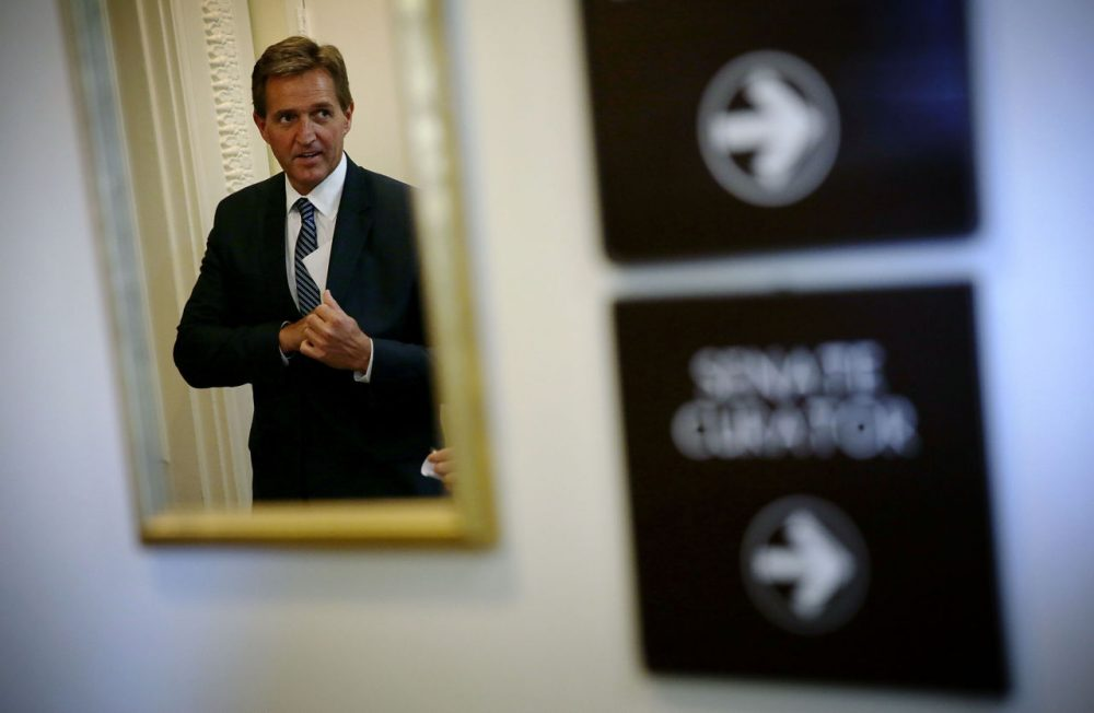 U.S. Sen. Jeff Flake (R-AZ) arrives at a news conference November 4, 2015 on Capitol Hill in Washington, D.C.  (Alex Wong/Getty Images)