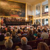 The Boston Classical Orchestra performing at Faneuil Hall. (Courtesy @BCOtweet/Twitter)