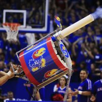 """Why is the t-shirt cannon such an effective promotion? L. Jon Wertheim and Sam Sommers attempt to answer this question in their book, """"This Is Your Brain on Sports"""" (AP Photo/Orlin Wagner)"""