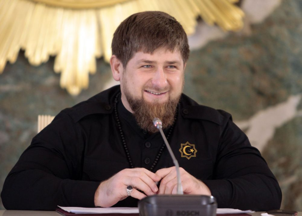 Chechen regional leader Ramzan Kadyrov speaks to journalists in Chechnya's provincial capital Grozny, Russia, Dec.  28, 2015. Russian investigators are expected to indict five men with the murder of opposition leader Boris Nemtsov, a brazen killing which sent shockwaves among the opposition earlier this year. Nemtsov, a top opponent of Russian President Vladimir Putin, was shot late at night on Feb. 27 as he was walking just outside the Kremlin. Five Chechen men have been arrested on charges of involvement in the killing, but it has remained unclear who ordered the attack. The key suspect in Nemtsov's killing was a senior officer in the security forces of Chechen leader Ramzan Kadyrov while the organizer named by the investigators was a personal driver of senior commander and Kadyrov ally Ruslan Geremeyev. (Musa Sadulaayev/AP)