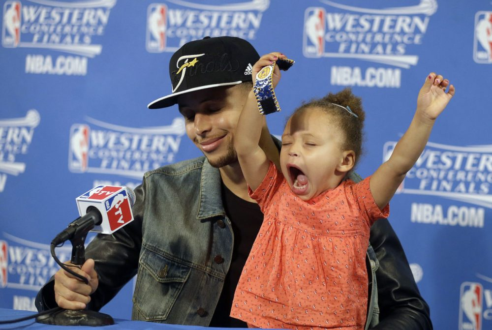 Riley Curry may have stolen the show during the 2015 NBA Playoffs, but is the the league's cutest kid? (AP Photo/Ben Margot, File)