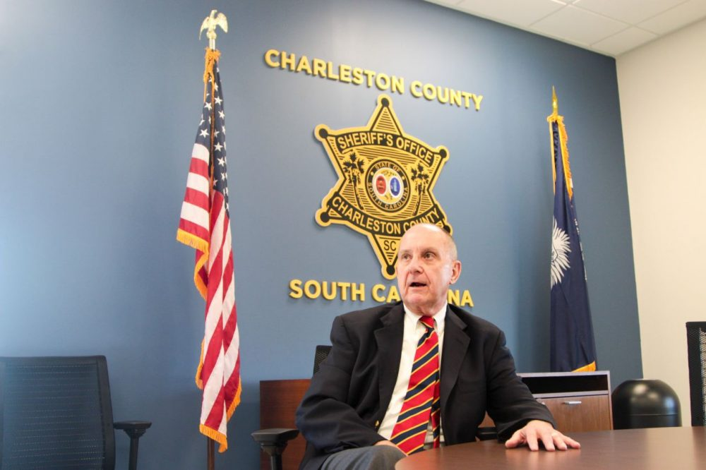 Al Cannon is sheriff of Charleston County, South Carolina. (Dean Russell/Here & Now)
