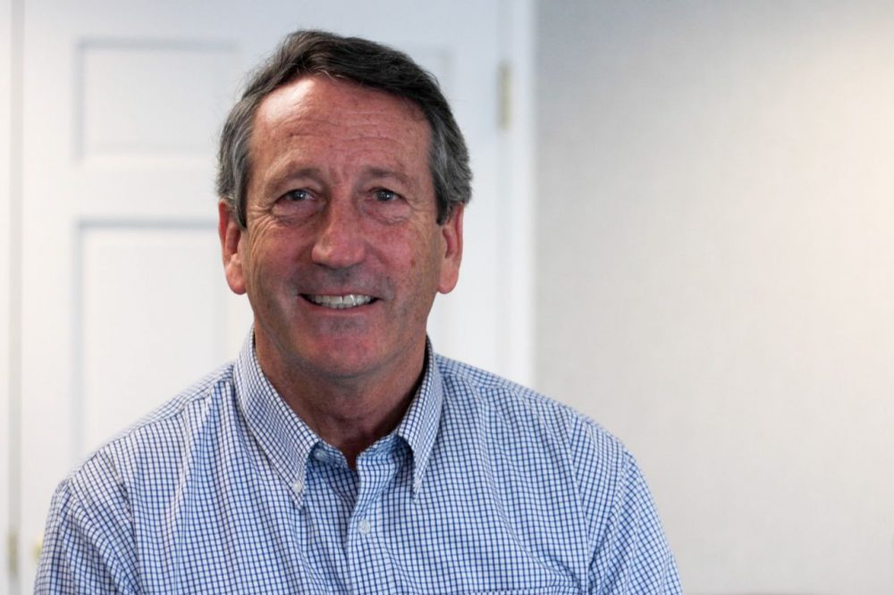 South Carolina Rep. Mark Sanford became a member of Congress in 2013, he was governor of South Carolina from 2003 to 2011. (Dean Russell/Here & Now)