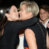 Yolanda Hadid, right, and her daughter Bella attend the Global Lyme Alliance Inaugural Gala at Cipriani 42nd Street on Thursday, Oct. 8, 2015, in New York. (Evan Agostini/AP)