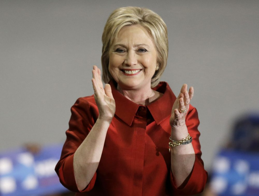 Democratic presidential candidate Hillary Clinton speaks at a rally at Texas Southern University on Saturday in Houston. (Pat Sullivan/AP)