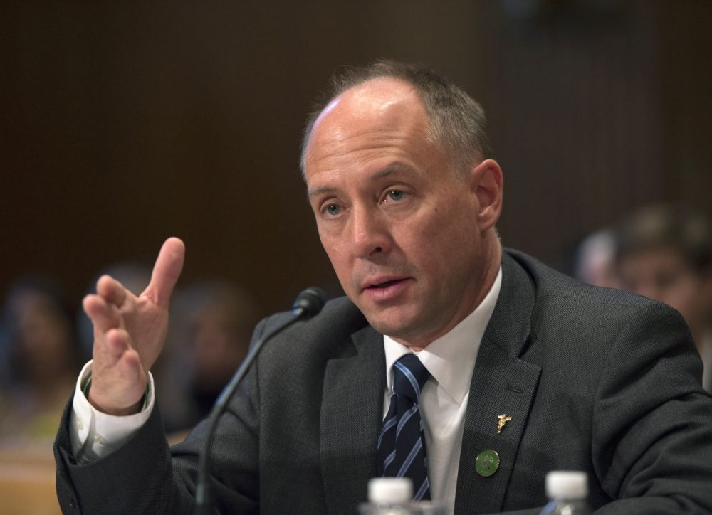Sandy Hook Promise founder and Managing Director Mark Barden testifies on Capitol Hill in Washington, Wednesday, Jan. 20, 2016, before the Senate Commerce, Justice, Science, and Related Agencies subcommittee hearing on gun control proposals.  (Molly Riley/AP)