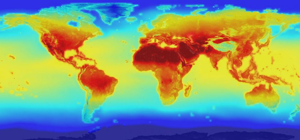 A 2015 NASA global data set combines historical measurements with data from climate simulations using the best available computer models to provide forecasts of how global temperature (shown here) and precipitation might change up to 2100 under different greenhouse gas emissions scenarios. (NASA)