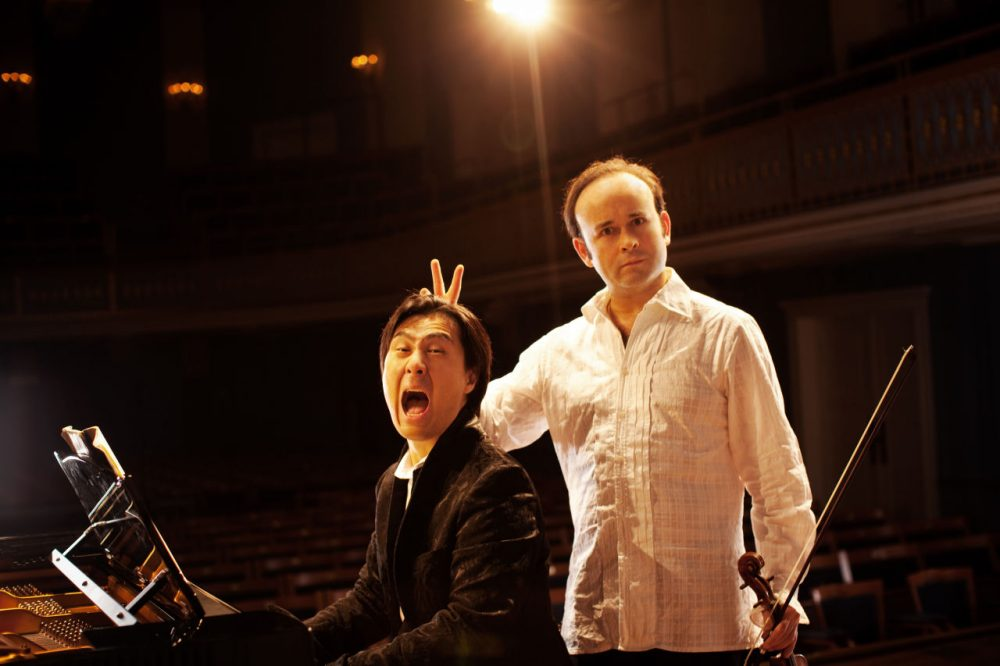 Igudesman & Joo are pictured at the Konzerthaus in Vienna, Austria. (Julia Wesely)