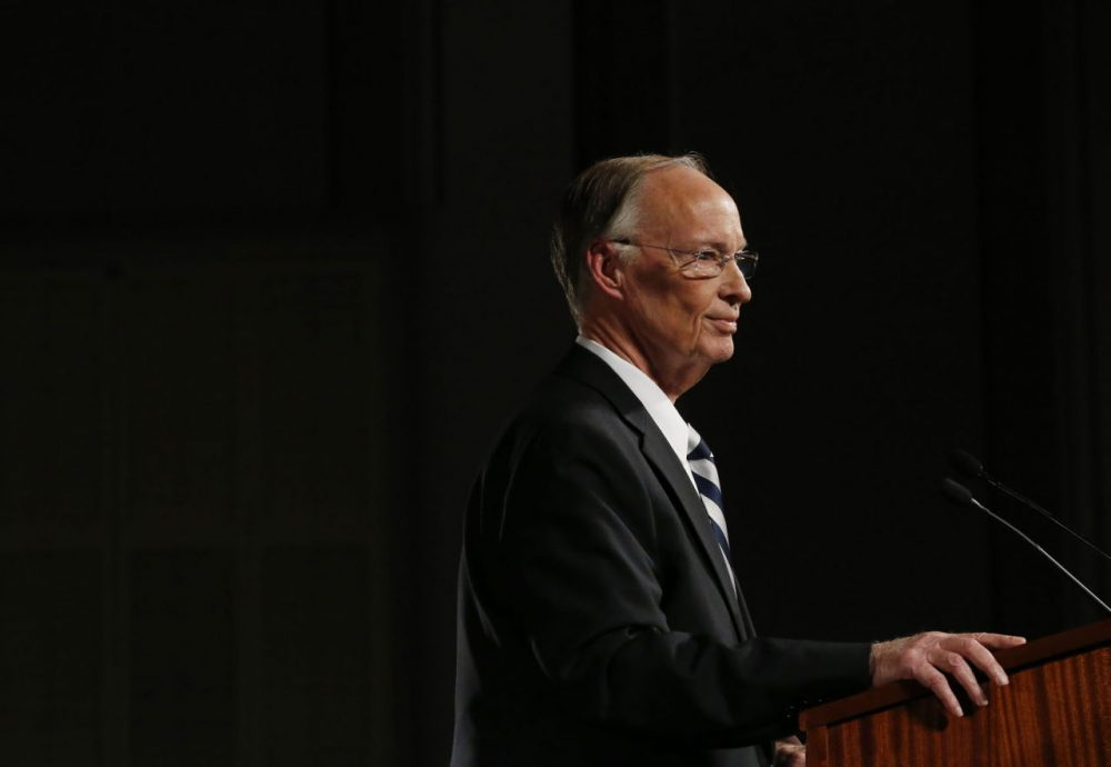 Alabama Gov. Robert Bentley speaks during the annual State of the State address at the Capitol, Tuesday, Feb. 2, 2016, in Montgomery, Ala. (AP Photo/Brynn Anderson)