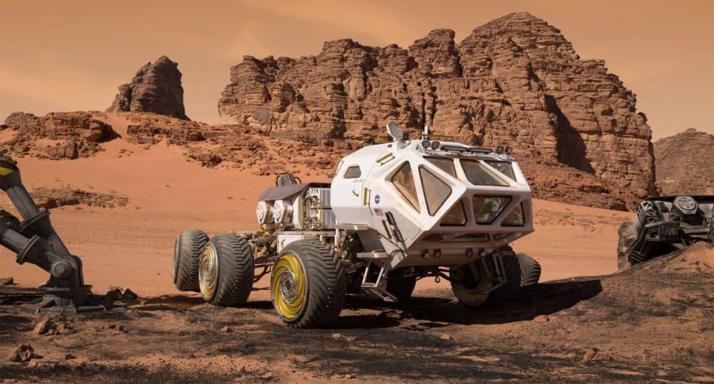 "The NASA rover astronaut Mark Watney uses in ""The Martian."" (Courtesy 20th Century Fox)"